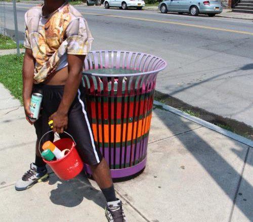 Danny Painting Trash Bins