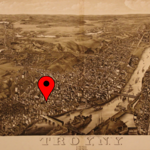 old-troy-map-pin