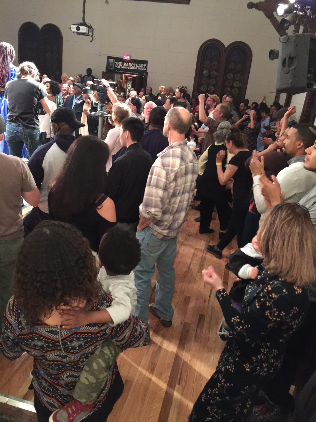 Image of People Dancing in the Sanctuary