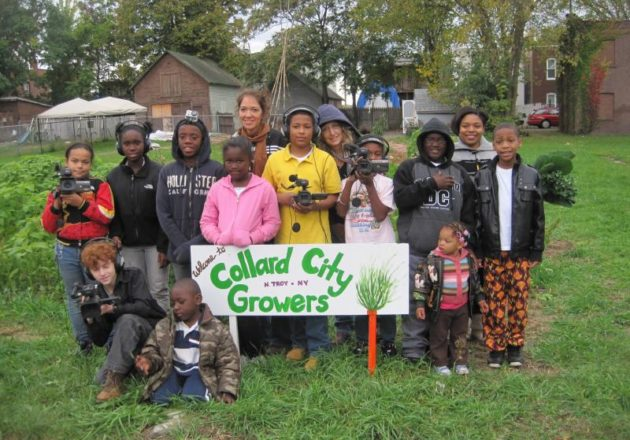 """Collard City Growers """"Be the Media"""" workshop, photo by Ellie Markovitch"""