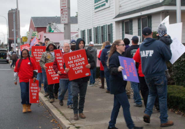 Mohawk Ambulance Workers Rally