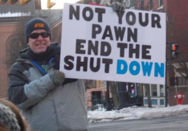 Labor Leaders Protest The Shutdown