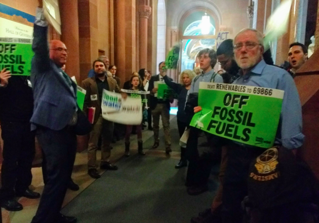 Climate activists gathered at the state capitol on March 5th to demand the legislature and Governor Cuomo embrace a real plan to move New York off fossil fuels by 2030, 10 years sooner than the proposed Climate and Community Protection Act.