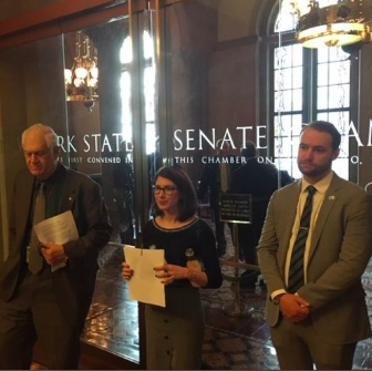 Advocates and state lawmakers gathered at the state capitol on Monday to support Governor Cuomo's proposed expansion of the bottle bill in the upcoming state budget.