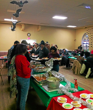 """WOOC attended """"Kingdom Ministries Easter Community Fellowship Dinner"""" at Christ Church, 35 State Street, in Troy."""