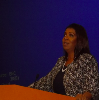 """WOOC attended the """"New York State Alliance for Retired Americans"""" annual conference on April 18 at the NY State United Teachers headquarters. We hear from NYS Attorney General Letitia T. James about her work on behalf of senior citizens and Retirees."""