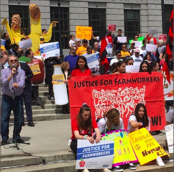 WOOC attended the Farmworker Rally to pass the Farmworker Fail Labor Practices Act.