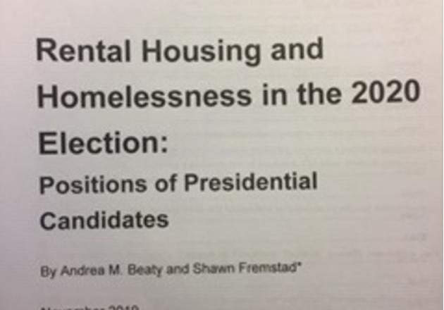 2020 Presidential Housing Policies